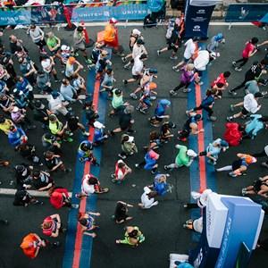 Start line of the TCS New York City Marathon
