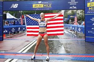 2018 New Balance 5th Avenue Mile women's champion Jenny Simpson