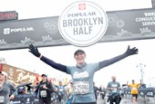 Runners at the finish of the 2018 Popular® Brooklyn Half